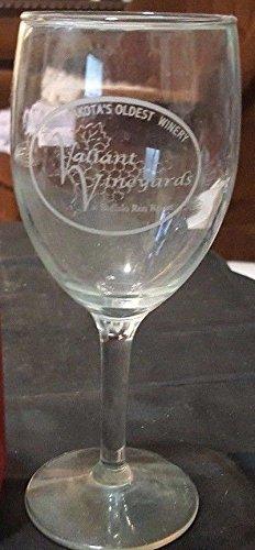 "7"" VALIANT VINEYARDS Wine Glass SOUTH DAKOTAS Oldest Winery"