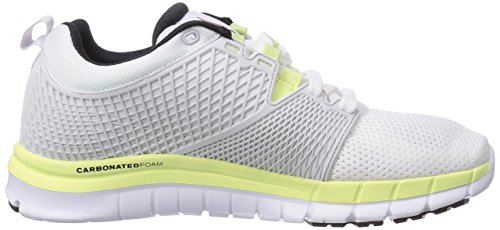 Reebok Zquick Dash - zapatillas de running de material sintético mujer blanco - Weiß (White/Porcelain/Citrus Glow/Black)