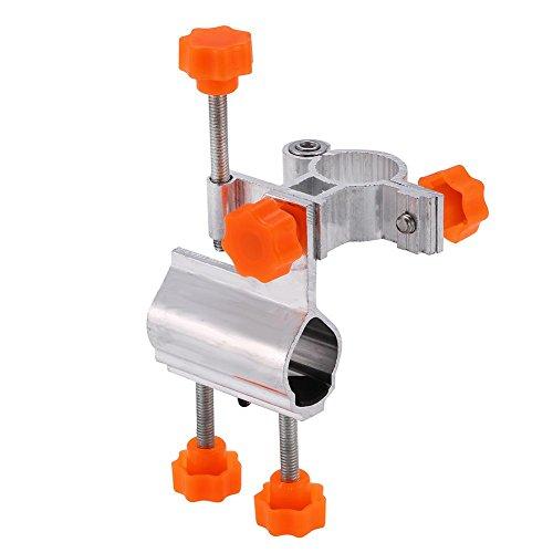 Fishing Rod Holder, Durable Aluminum Alloy Fishing Rod Pole Holder Chair Clamp Bracket (2 Colors)(Orange)