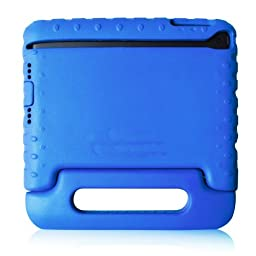 TCD for Apple iPad Mini 1 2 3 with Retina Display BLUE iPad Case for Kids Safe Shockproof Protective Stand Light Weight Kids Foam Cover (FREE SCREEN PROTECTOR & STYLUS PEN)