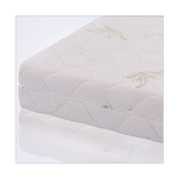 AILIME SRL Materasso sfoderabile Una Piazza e Mezza in Memory Foam 120x190x25 cm Dispositivo Medico Premium 4 spesavip