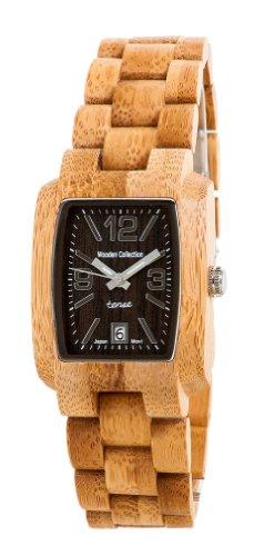 Tense Wood Watch Mens Bamboo Day Time Jumbo J8102B DLF