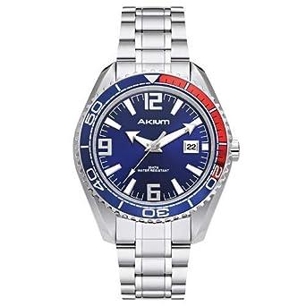 c0eace17ff2 Relógio Akium Masculino Aço - G7082 SS VD53 BLUE  Amazon.com.br ...