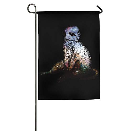 Fashion Galaxy Animal of Meerkat Garden Flag Indoor & Outdoor Decorative Flags for Parade Sports Game Family Party Wall Banner 12x18 inches