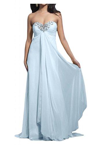 Toscana novia dibujos Empire vestidos de gasa por la noche vestido de largo bola de vestidos de fiesta Azul