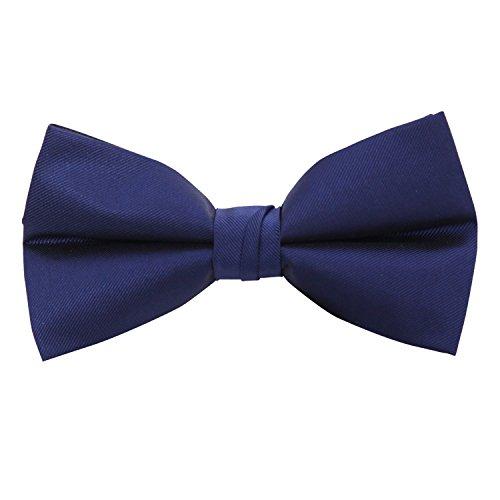 Vera Nuka Men's Solid Pre-tied Formal Tuxedo Bow tie