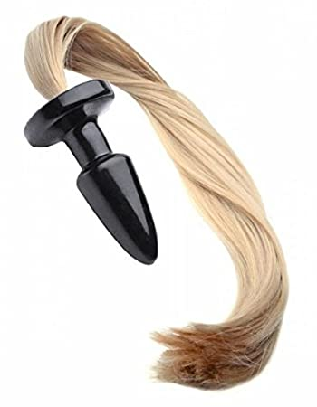 85c8ef066 Image Unavailable. Image not available for. Color  Blondie Pony Tail Butt  Plug ...