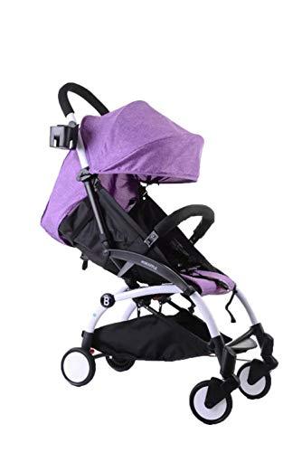 DYFAR Four Seasons prams fold High Landscape Toddlers Baby pushchairs Bidirectional Newborn Strollers Suitable for Children 0-3 Years Old car, Purple