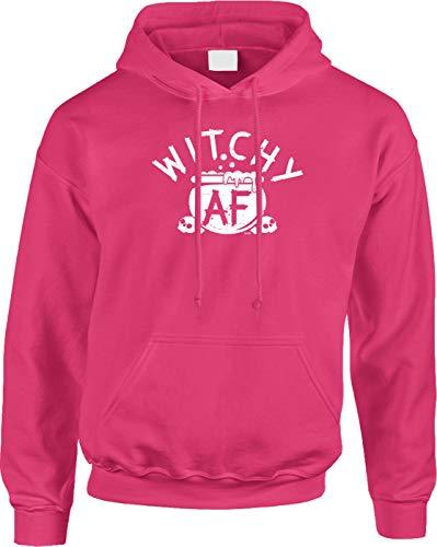 Blittzen Mens Hoodie Witchy AF - Halloween Pun Funny Joke, 2XL, Pink]()