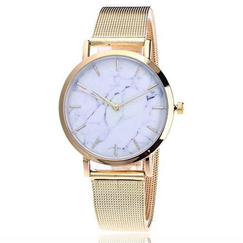 Reloj de Pulsera Mujer, Pulsera de Reloj analógico de mármol Resistente al Agua con Movimientos