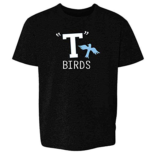 T Birds Gang Logo Costume Retro 50s 60s Black S Youth Kids -