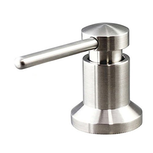 Sink Soap Dispenser Built in Hand Sink Pump 304 Stainless Steel - Brushed, Large Capacity 17 OZ Bottle, Countertop Thick Deck Installation, Well Built and Sturdy with a 5 Years Warranty (Countertops Sinks Stainless Steel)