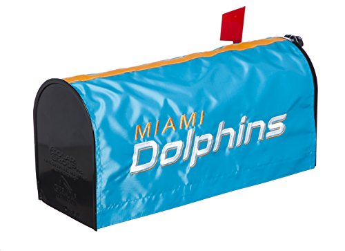 Team Mailbox Cover (NFL Miami Dolphins Mailbox Cover, Blue)