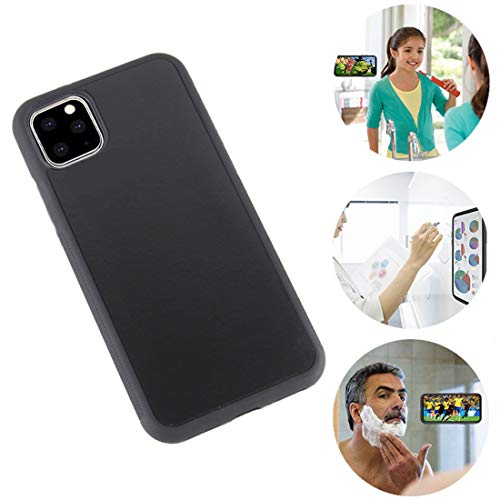 Omio for iPhone 11 Antigravity Case Ultra Thin Magical Nano Adsorption Technology Anti-Gravity Protective Cover for iPhone 11 Sticky Case Nano Suction Soft Anti-Scratch Shell for iPhone 11 Case Black