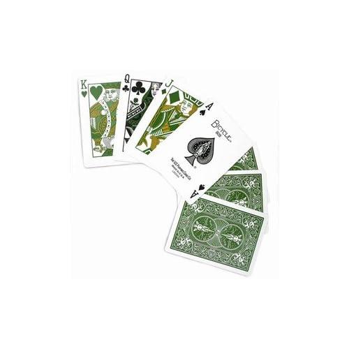 Bicycle cartes à jouer, édition Eco mono (Vert)