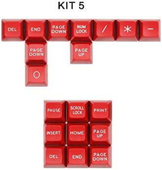 104 Keys + 25 Keys ABS Material SSSLG SA Mechanical Keyboard Keycap Mechanical Keyboard Suitable for MX Switch,6 129 Keys
