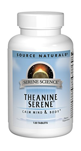 SOURCE NATURALS Serene Science Theanine Tablet, 120 Count