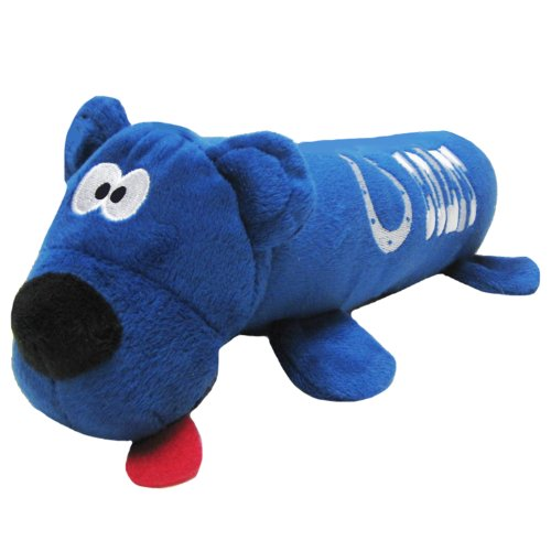 NFL Tube Toy for Dogs & Cats, Indianapolis Colts. Soft Plush Pet Toy with Two Inner SQUEAKERS.