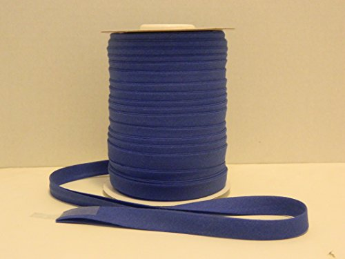 Double Fold Bias Tape 1/2 Inch wide X 50 YARDS - ( Choose Color) - MJ's Crafts & More (ROYAL BLUE)
