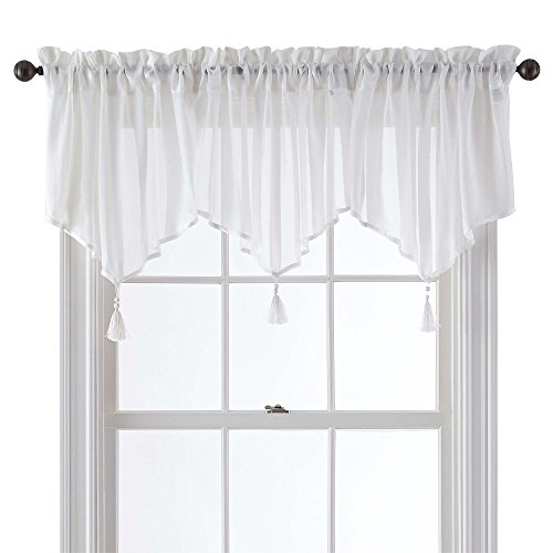 Five Queens Court Farmington Sheer Ascot Valance, 21