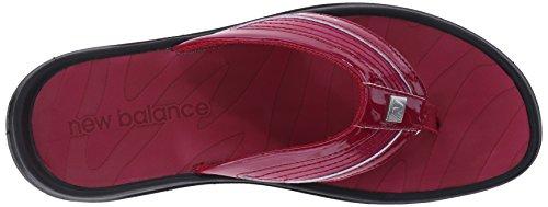 New Balance Women's Revive Thong Sandal Black/Red