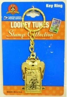 (Tazmanian Devil (Taz) and Bugs Bunny Looney Tunes Stamp Collection Keychain from the Post Office)