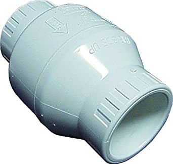 Spears s1520 20 pvc utility swing check valve 2 inch white swimming pool filter valves for Scp distributors swimming pools