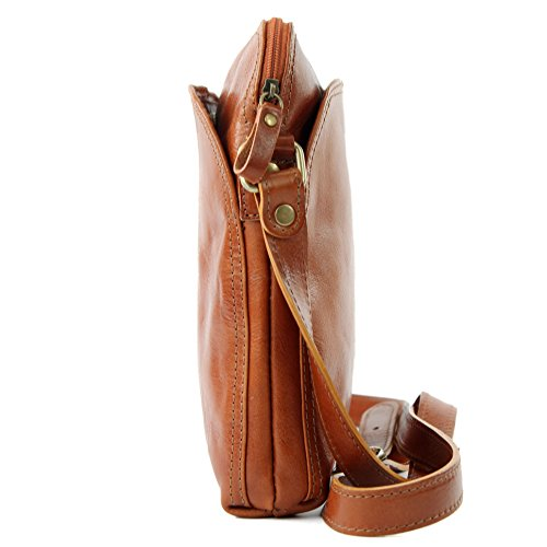T127 Unisex De Messenger Leather T127b Ital Camel Modamoda Bag nwUgT6qw4