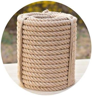 ZHWNGXO Natürliche Jute Seil, Durchmesser - 1,5 mm 2 mm 3 mm Brown natürliches Seil Verschleißfeste 200 Meter Weave Dekoration (Size : 1.5mmx200m)