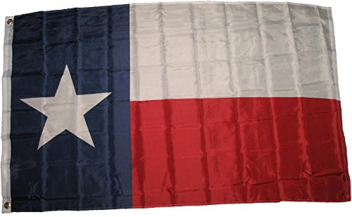 Premium Texas State Flag (3 By 5 Foot) - Large Flag With Brass Grommets - 100% Super Polyester Material - Perfect For Hanging - Polo Store Dallas
