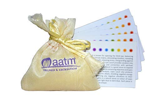 Aatm Healing Gemstone Black Tourmaline Flat Orgone Stone for Positivity and Gift