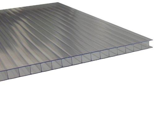 Stegplatten 10mm für Gewächshaus UV klar 1 lfm Breite: 525-695mm incl. Zuschnitt