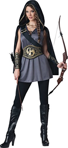 Female Robin Hood Costumes (Incharacter Womens Renaissance Sexy Huntress Robin Hood Theme Party Costume, M (8-10))
