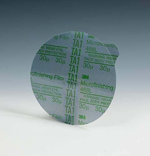 3M Microfinishing PSA Film Disc 468L, 5 in x NH, 15 Micron, Type E, Die 500X