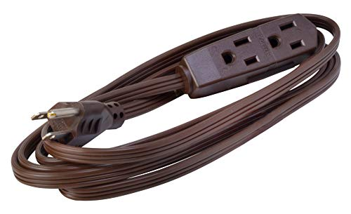 Woods 608 SPT-2 8-Foot Cube Tap Extension Cord, 16/3, Brown