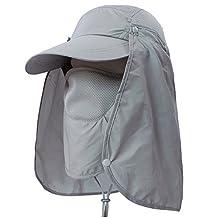Sun Protection Hat, LC-dolida Summer Men Women Safari Visor Hat with Neck Flap