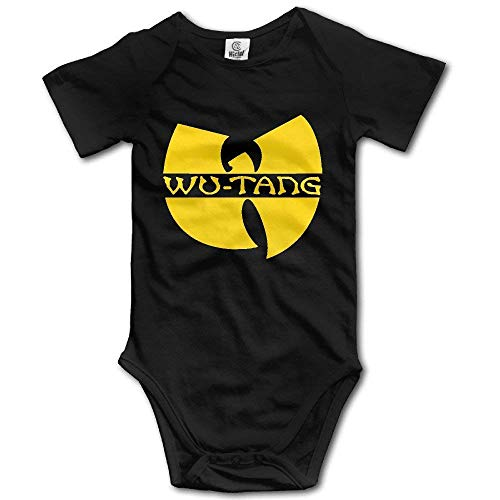 TCJX Unisex Baby Wu Tang Clan Logo Yellow Baby Onesie Outfits T Shirt Bodysuit -