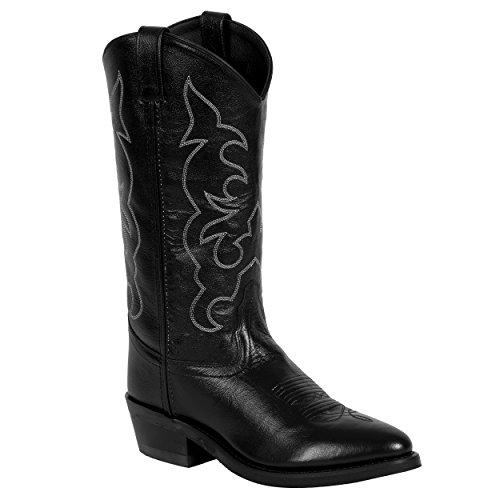Old West Men's Leather Cowboy Work Boots - Black9 D(M) US