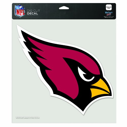 Arizona Decal Set (NFL Arizona Cardinals 8-by-8 Inch Diecut Colored Decal)