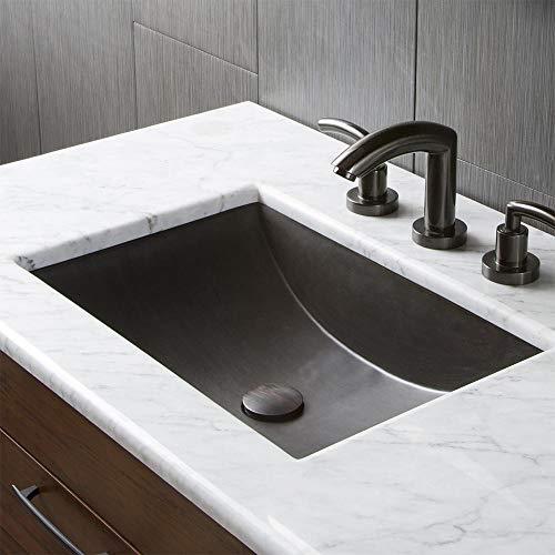 Native Trails NSL2014-S Cabrillo Native Stone Dual-Mount Bathroom Sink, Slate ()