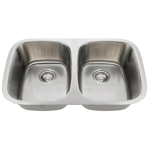 510 18-Gauge Undermount Equal Double Bowl Stainless Steel Kitchen Sink (Undermount Small Double Bowl Equal)