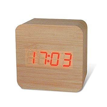 ShopSquare64 Honana DX-CO300 Reloj Electrã³Nico Reloj Creativo a Prueba de Agua Reloj Digital Despertador de Madera: Amazon.es: Hogar