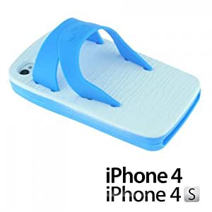 Slipper Style 3D Soft Silicone For Iphone 5/5S Case CoverBlue