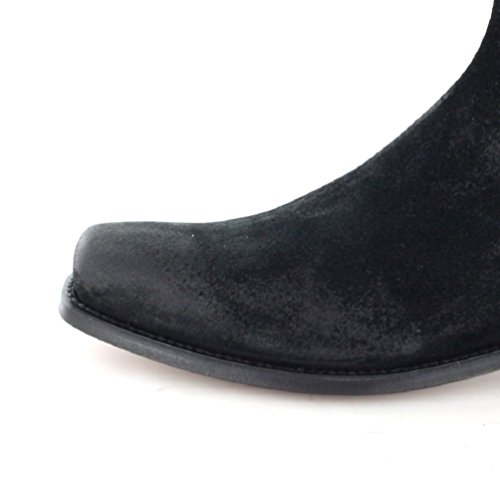 Tony Mora 621, Stivali chelsea unisex adulto Nero