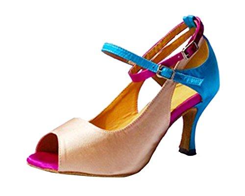 TDA - Zapatos con tacón mujer Beige Blue