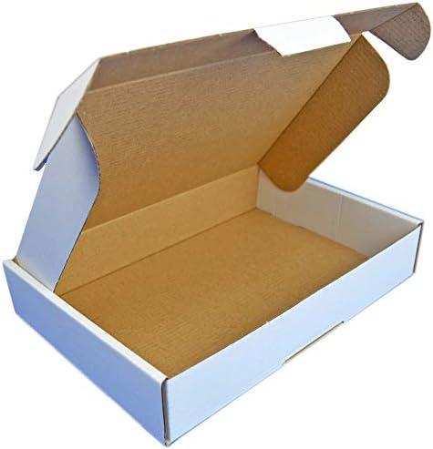 Cartón blanco 350x250x50mm Cierre de cartón adicional Ideal para documentos Caja de 3 capas Embalaje de cartón Mudanza Almacenamiento de la casa Envío Embalaje blanco (200): Amazon.es: Oficina y papelería