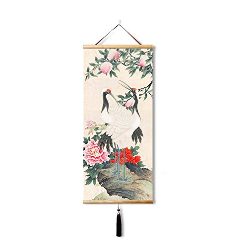 EAPEY Scroll Wall Art Chinese Paintings Hanging Artwook for Wall Decorations