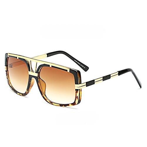 Burenqi Lunettes de soleil ovales en acétate Femmes Vintage Frame Brand designer Black Shades Lunettes de soleil pour Hommes Femmes, L, UV400