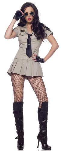 LA83113 (Lg) Sheriff Sexy Leg (Ghostbusters Womens Fancy Dress)