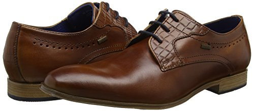 Bugatti 311252022100, Zapatos de Cordones Derby para Hombre Marrón (Cognac 6300)